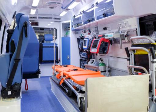 City ambulance Inside an ambulance
