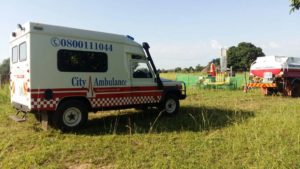 City ambulance on site support
