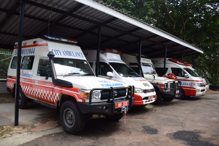 City ambulance fleet
