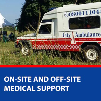 on site and offsite medical support
